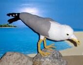 Knitting Pattern Only- My Pet Seagull knitting pattern - immediate digital pdf download by madmonkeyknits
