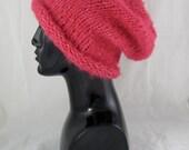 Digital pdf download knitting pattern-Simple Superfast Super Furry Slouch Hat pdf download knitting pattern