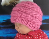 Instant Digital File pdf download knitting pattern - Baby Chunky Beehive Hat pdf download knitting pattern