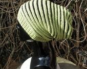Digital file pdf download knitting pattern -Reversible Super Slouch hat knitting pattern pdf download