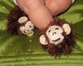 Instant Digital File pdf download knitting pattern- Baby Monkey Boots (Booties) knitting pattern pdf download
