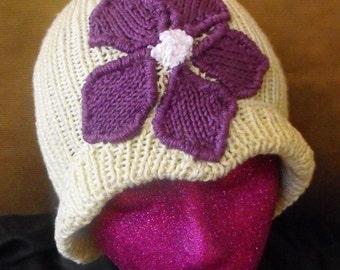 Instant Digital File PDF Download Knitting Pattern - Granny Violet Cloche Hat knitting pattern - madmonkeyknits