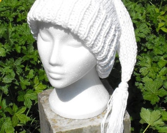 Instant Digital File PDF Download Knitting Pattern-Superfast Wee Willy Winky Pixie Slouch hat