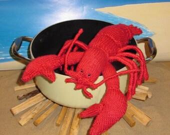 madmonkeyknits Lottie Lobster Crustacean Toy pdf knitting pattern