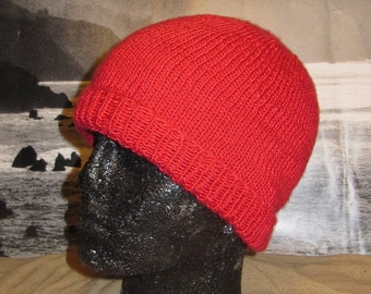 Instant Digital File pdf download knitting pattern only madmonkeyknits Simple Silk Beanie hat pdf knitting pattern