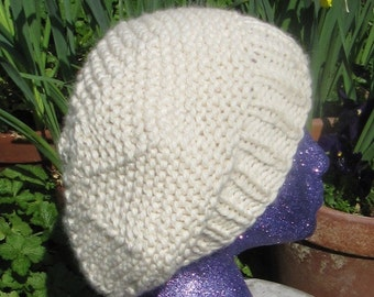 Instant digital file pdf download Superfast Garter Stitch Tam Slouch Hat pdf knitting pattern