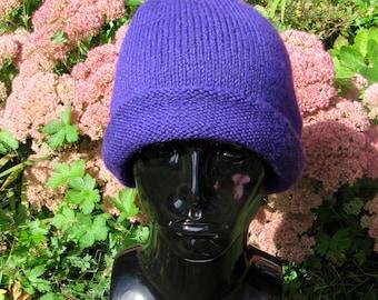 Instant Digital File pdf download Knitting Pattern-Simple Double Cuff beanie hat knitting pattern by madmonkeyknits