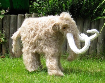 madmonkeyknits-Mammoth Woolly Mammoth prehistoric animal toy knitting pattern pdf download dinosaur - Instant Digital File knitting pattern