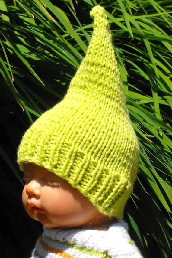 Gnome Knitting Pattern : BABY GARDEN GNOME HAT PDF KNITTING PATTERN MADMONKEYKNITS