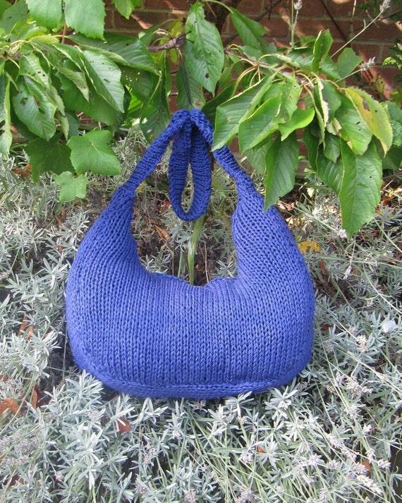 Digital file pdf download knitting pattern only- Superfast Super Slouch Bag pdf download knitting pattern