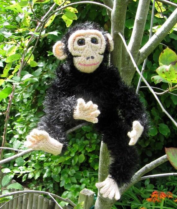 Instant Digital File pdf download knitting pattern -My Pet Chimpanzee toy animal  pdf download knitting pattern