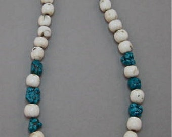 Conch Shell Necklace with Turquoise Stones