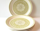 Franciscan Ware Hacienda Green Salad Plates - Set of 4