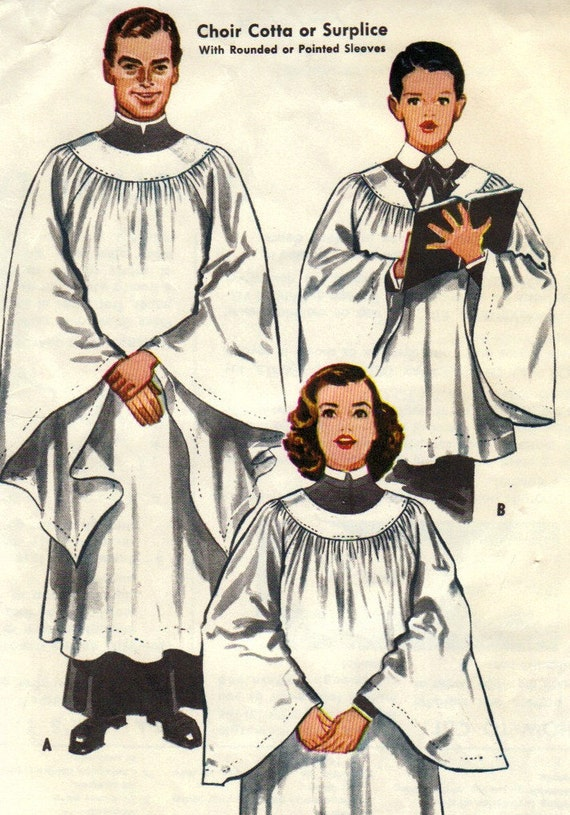 Choir Cotta Or Surplice Pattern Mccalls 2105 Size Small