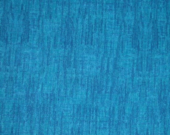 "Benartex 1087 Textured Turquoise ""Metro"" Cotton Print Fabric"