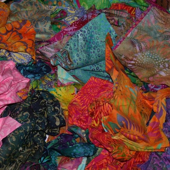 Scrap Box 3 of Cotton Batik Fabric