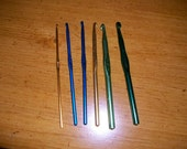 Set of 6 crochet hooks