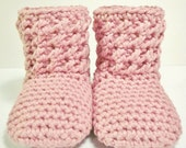 Crochet Pattern PDF - Textured Booties, Sizes Preemie/Newborn to Toddler