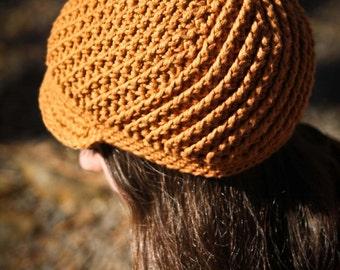 Pinwheel Newsboy Cap (Crochet Pattern)