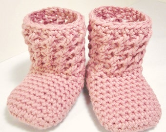 Textured Booties (Crochet Pattern)