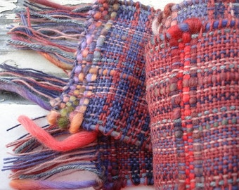 Handwoven Wild Berry Scarf