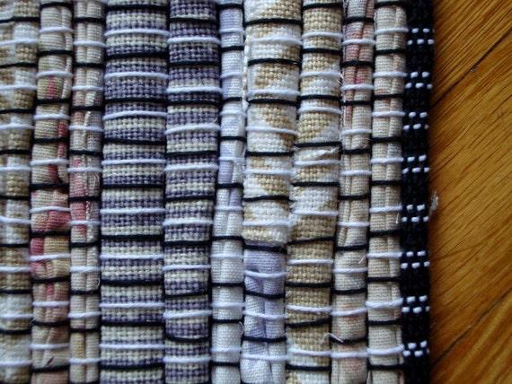 SALE!! Handwoven Vanilla, Pink, and Lavender Rag Rug (original price: 85.00)