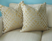 Kelly Wearstler, Ombre Maze Cushion - Saffron