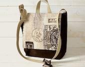 Messenger bag /Travel bag /Rucksack dark olive  unisex  Alfresco with adjustable strap