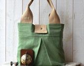 CHIC Handbag Diaper Bag in Green LA BOHEME- light green fashion St. Patrick's Day