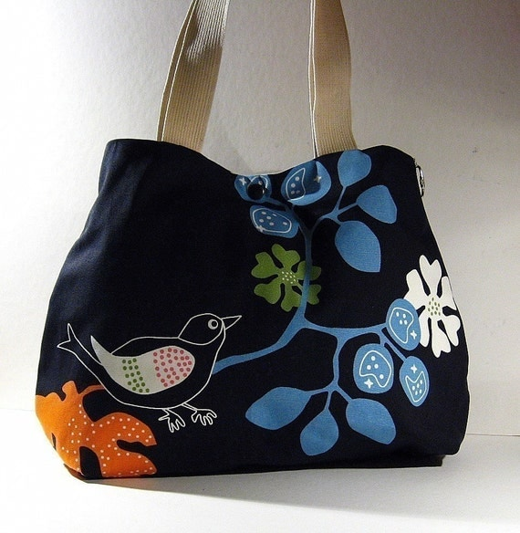 GOTHENBURG Robin  Black Birdy Everyday Purse w\/Double Straps