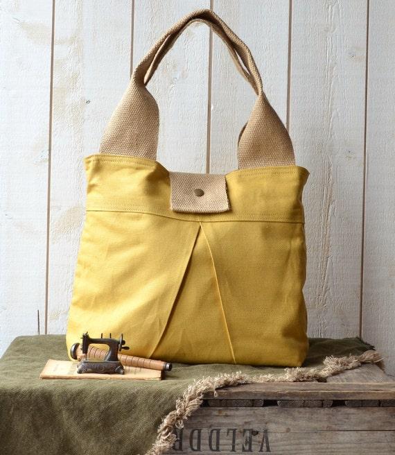 Reserved for Vanessa - Fall fashion CHIC Diaper Bag in Mustard LA BOHEME