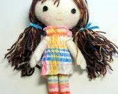Soft Sculpture Very Small Stuffed Doll