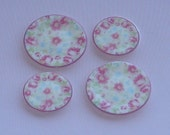 Pink Floral Greengate plates for your dollhouse