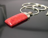 coral and silver pendant for your