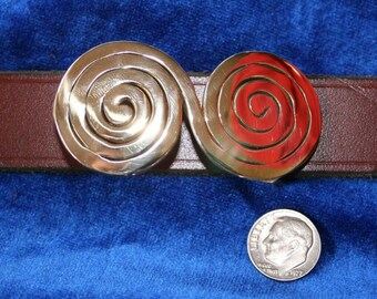 Infinity Spiral Bronze Belt Buckle
