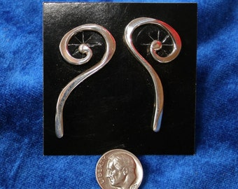 Sterling Silver Scroll Earrings