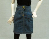 A-line Denim - Blue Jean  Skirt - SD13 -  BJD