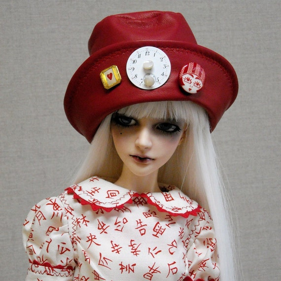 Scissor Sisters Dress Pinafore and Hat - SD13 -  BJD