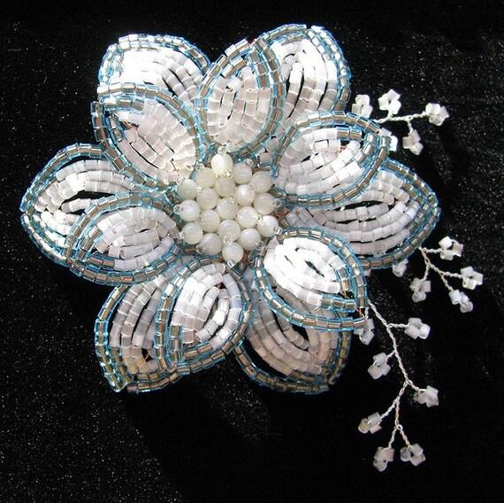 Shiny Flower Brooch