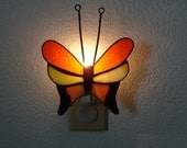 Multicolored butterfly nightlight