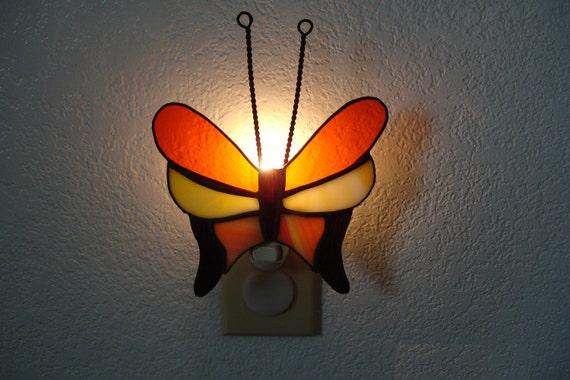 Multicolored butterfly nightlight