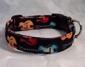 Guitar Music Dog Collar