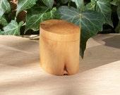 Stump Jewelry Trinket Box Birch Wood