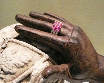 Sterling silver ruby ring size 8 July Birthstone...Be My Valentine...