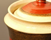 Stoneware Canister in Ohata Kaki Red and Quartz