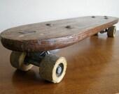 OLLIE. Vintage Wooden Skateboard