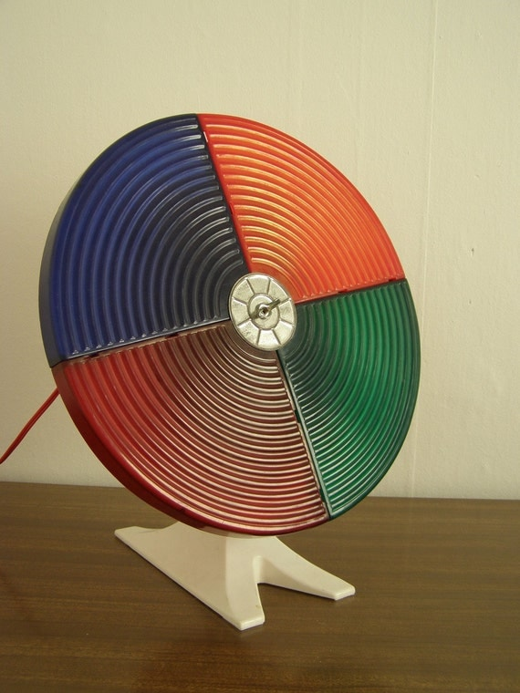 Vintage Christmas Tree Color Wheel