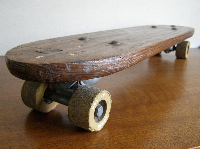 Ollie Vintage Wooden Skateboard