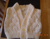 REDUCED cream newborn waistcoat (slight seconds)