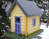 Birdhouse, Donette's Cottage - Yellow with Siding